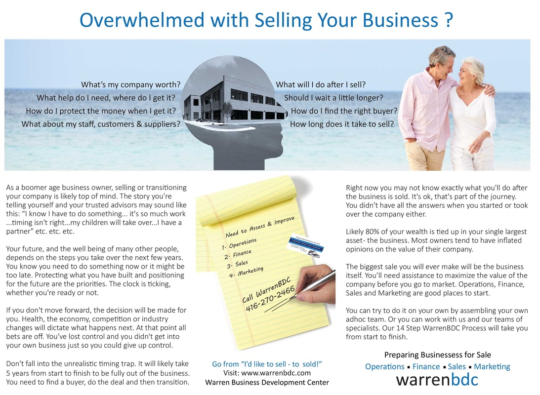 Overwhelmed with Selling Your Business ?